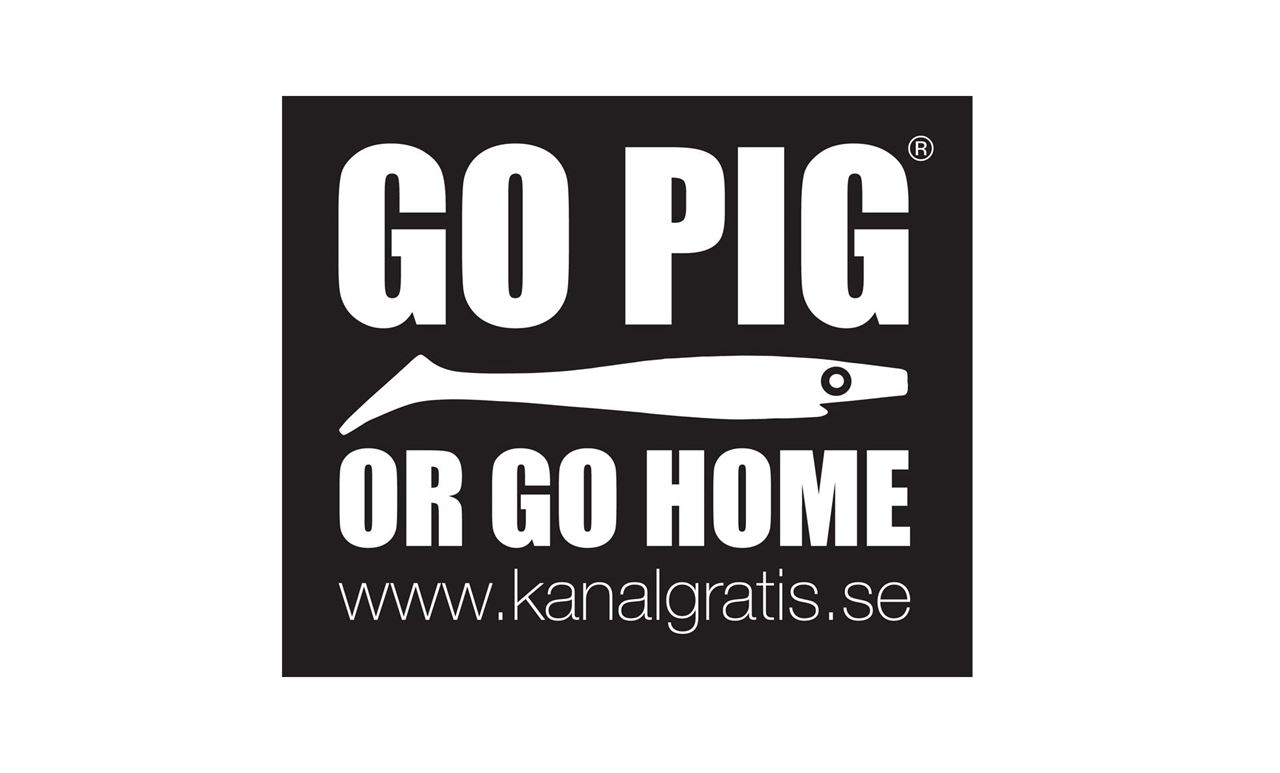 Bild på Sticker - Go Pig or Go Home
