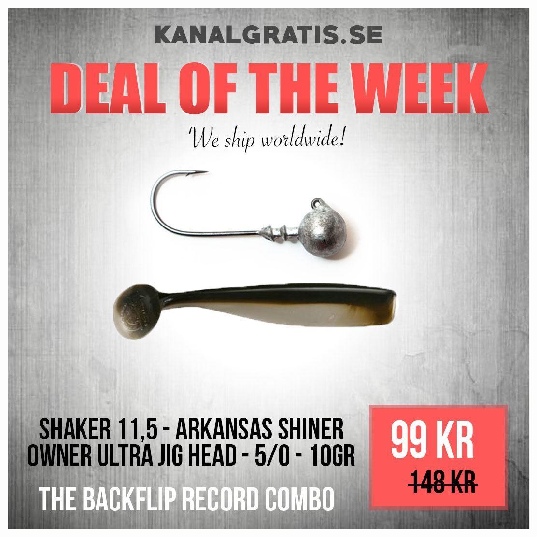 Bild på Shaker 11,5 cm Arkansas Shiner with Jig head - The Backflip Record Combo