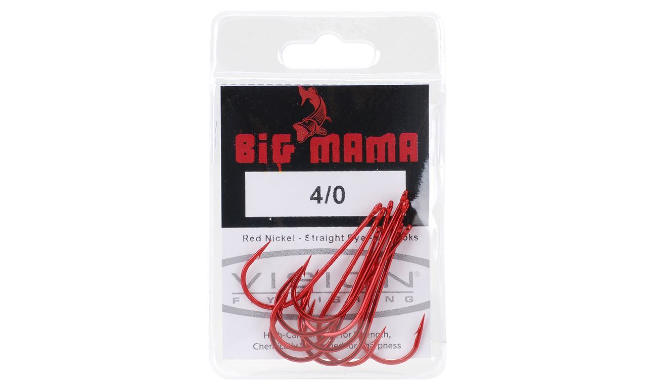 Picture of Vision Big Mama Hooks - Red - 10 pack