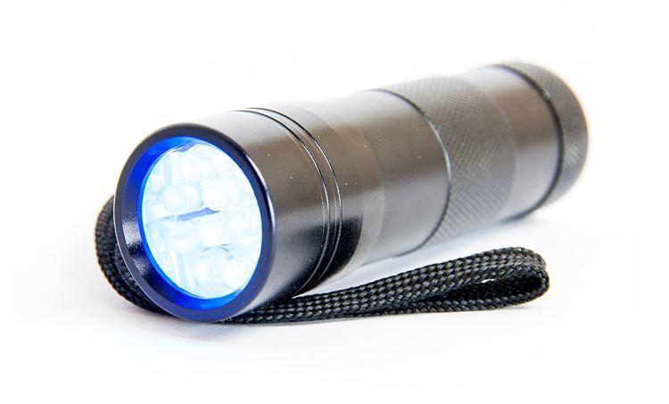 Bild på UV-lampa