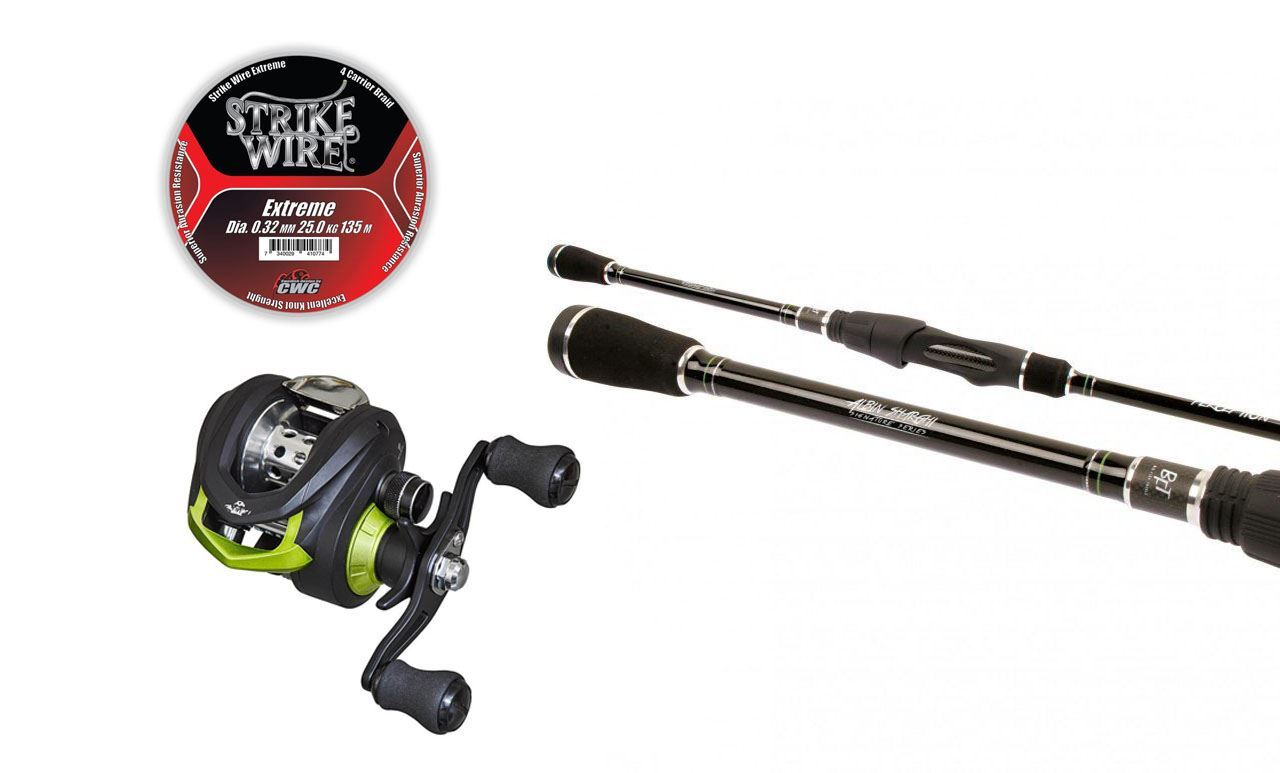 "Picture of Perception 7'6"" Jig & Baitcast & Gunki BC 200 ITC Reel"