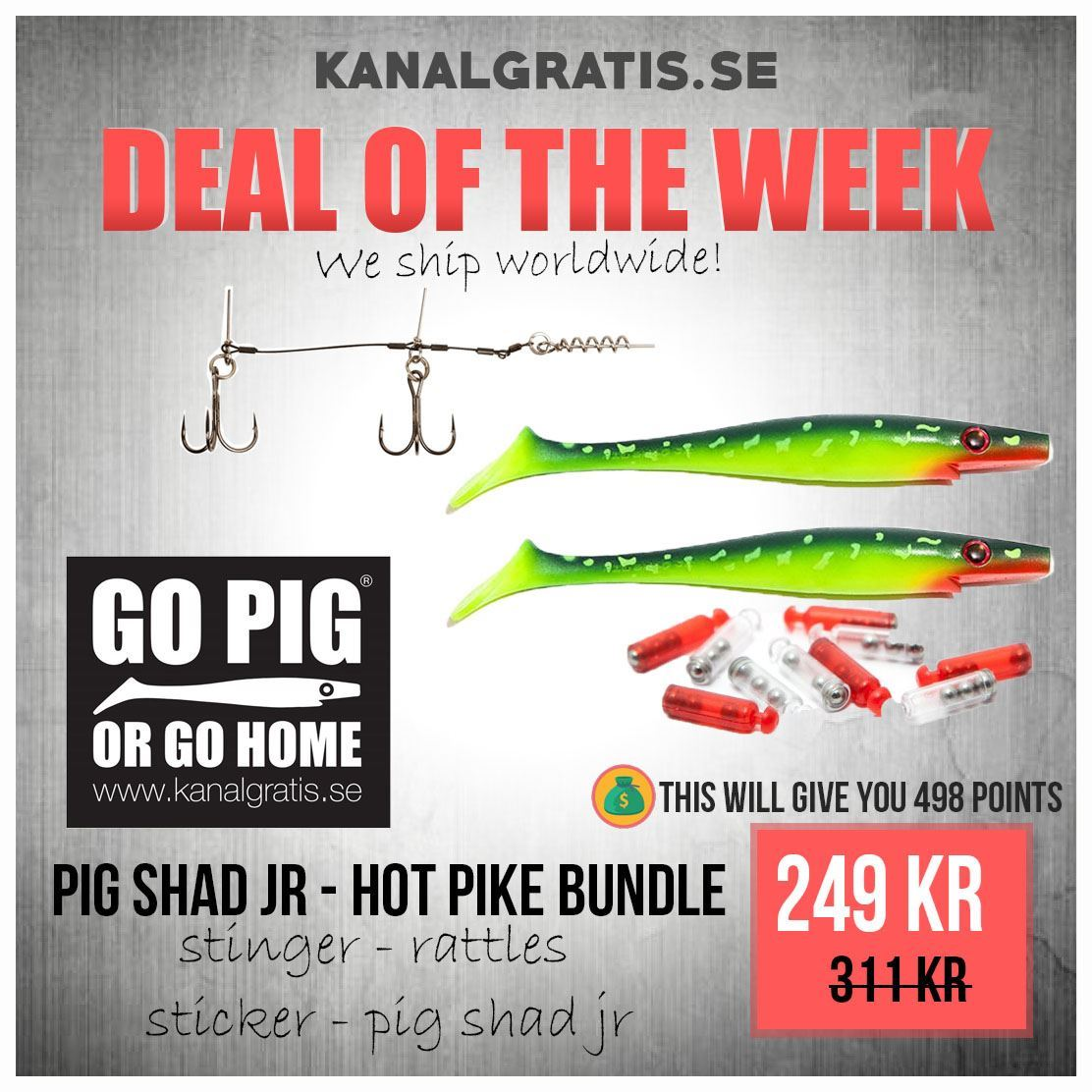 Picture of Pig Shad Jr Hot Pike - Bundle