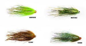 Picture of Bauer's UV Pike Flies for Wiggle Tail