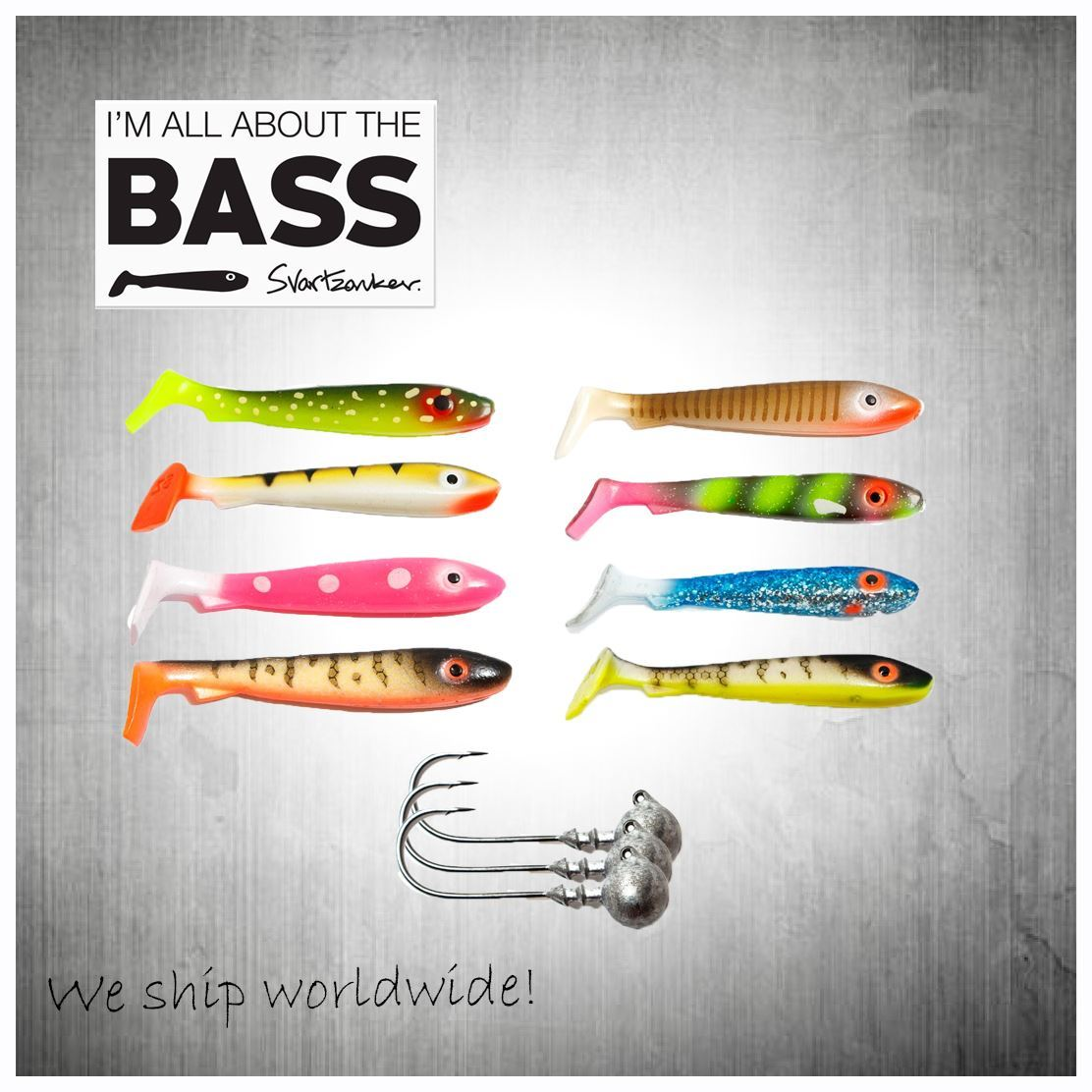 Bild på McRubber Bass with Jig Heads - Choose you favourit color!