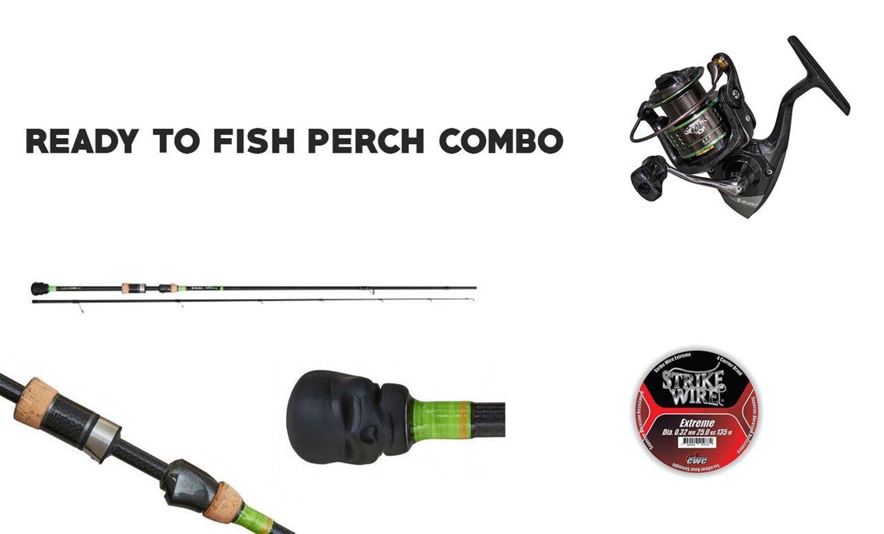 Bild på Ready to Fish Perch - Gunki Street S 228 MH  & THG FV 2500 reel