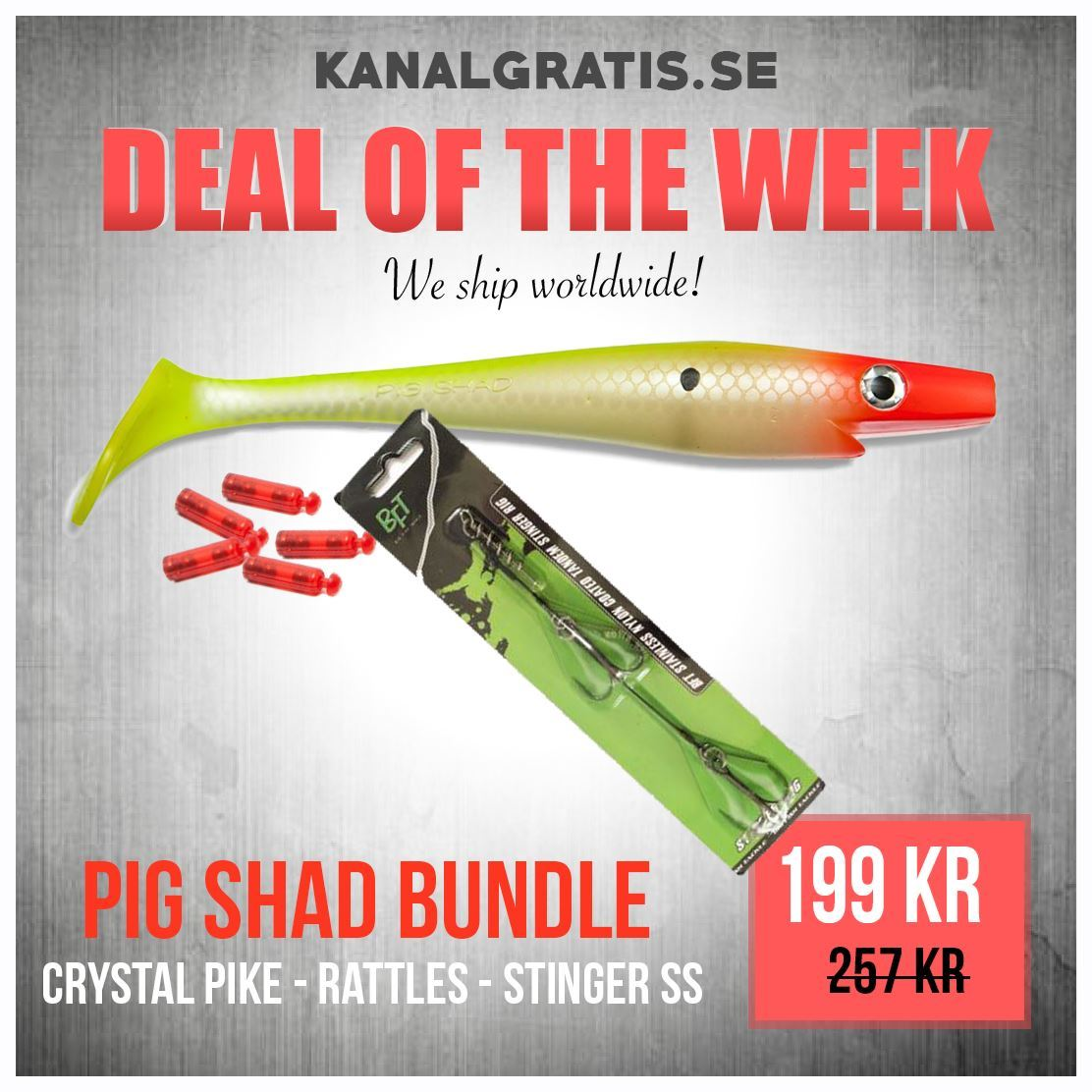 Bild på Pig Shad - Crystal Clown - Bundle