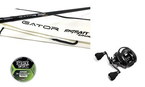 "Picture of Gator BIGBAIT Explorer 8'5"" - 180 gr (2-piece) with Instinct X7 Reel and line"