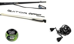 "Bild på Gator GUMBAIT Explorer 8'1"" - 140 gr (2-piece) with Instinct X7 Reel and line"