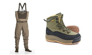 Picture of Vision Gillie waders and Vision Tossu wading shoes
