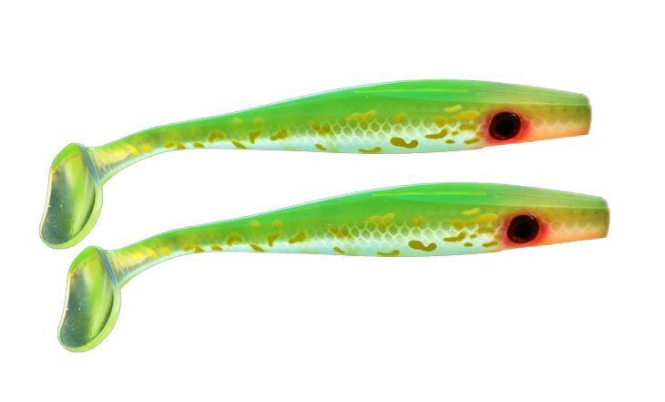 Bild på Pig Shad Jr - Transparent Hot Pike - 2 pack