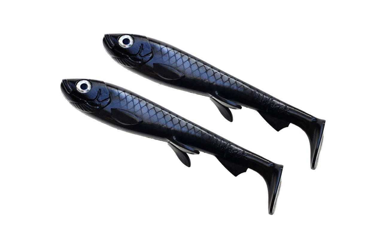 Bild på Wolfcreek Shad Jr 2-pack - Black Baitfish