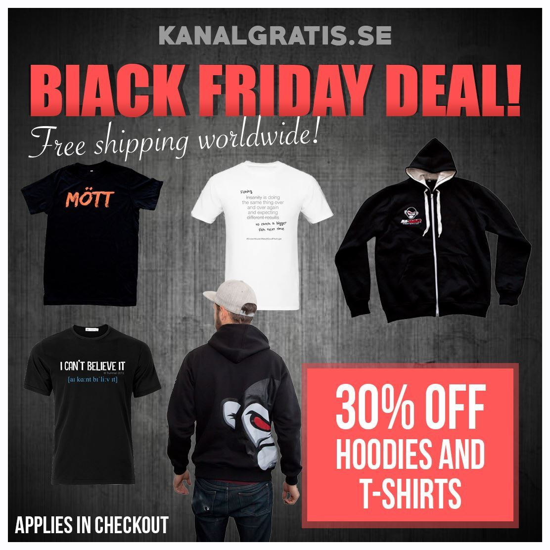 30% OFF T-SHIRTS AND HOODIES - Kanalgratis