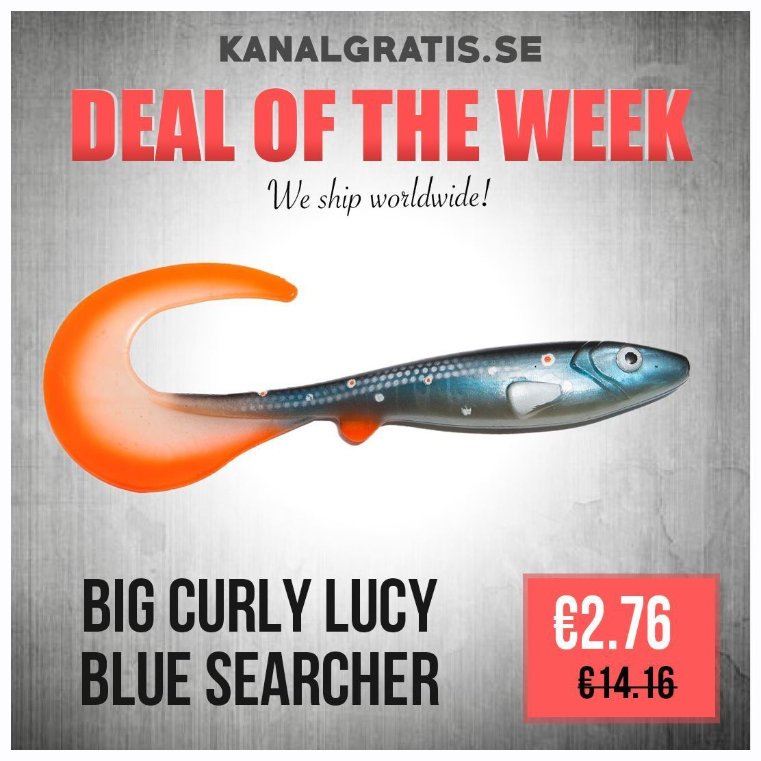 Picture of Big Curly Lucy 26 cm - Blue Searcher