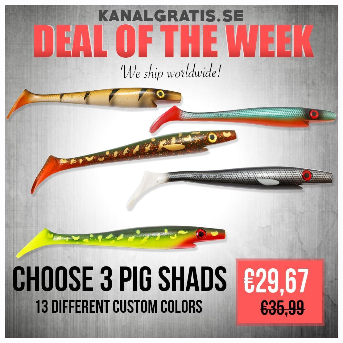 Picture of CUSTOM COLORS PIG SHAD - Choose your favorite 3
