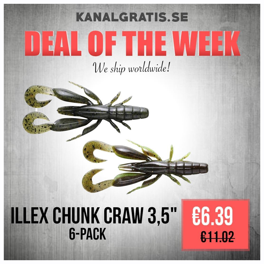 """Picture of Illex Chunk Craw 3,5"""" - 6 pack"""